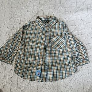 6-9 mos button down long sleeved shirt